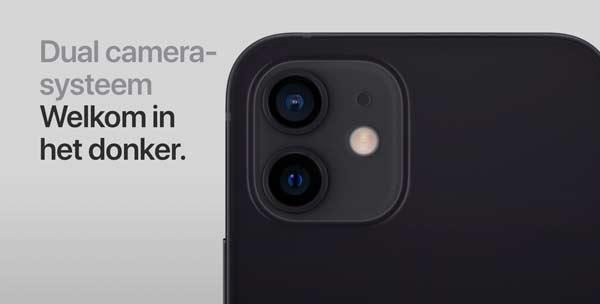 Apple iPhone 12 mini camera systeem