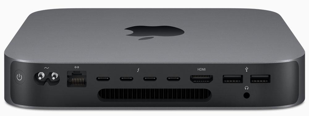 Mac Mini 2018 - aansluitingen