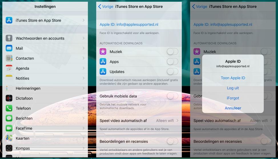 iTunes en App Store abonnementen beheren
