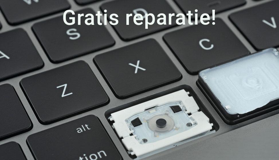 Gratis reparatie voor toetsenborden met vlindermechaniek